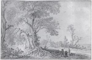 Landschap met herders en een kudde schapen