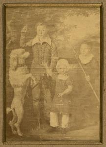 Portret van Barent Johannes Momma (1811-1871), Willem Frederik Carel Momma (1815-1852) en Hendrik Herman Momma (1818-1894)