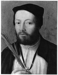 Portret van een man met palmtak (een Jeruzalemvaarder?)
