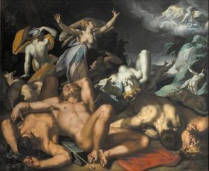 Apollo en Diana doden de kinderen van Niobe