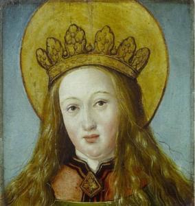 Hoofd van een vrouwelijke heilige