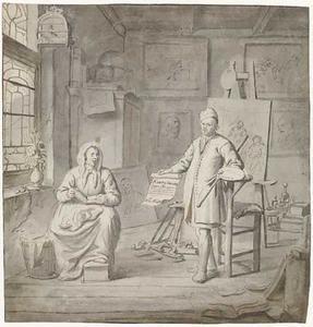 Dubbelportret van Michiel Comans (...-1687) en zijn derde echtgenote Elisabeth van der Meersch (...-...)