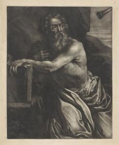 St. Jerome hoort het trompetgeschal van de engelen bij het Laatste Oordeel