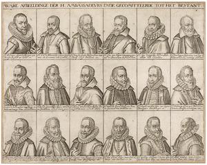 Portretten van de afgevaardigden bij de onderhandelingen voor het 12-jarig Bestand in 1609