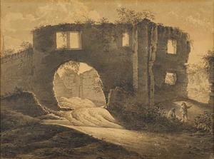 Figuren bij een ruïne