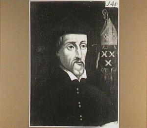 Portret van Willem Damasz.van de Linden (Lindanus) (1525-1588)