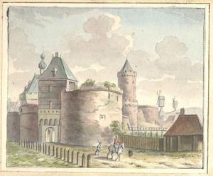 Hezelpoort en Kronenburgertoren te Nijmegen van de landzijde