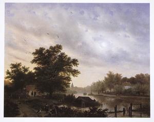 Hollands landschap met kanaal