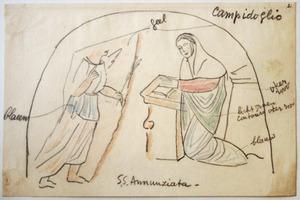 Aankondiging geboorte in de S.S. Annunziata