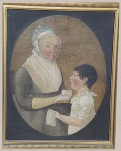 Dubbelportret van Elisabeth Oudemans (1758-1804) en Esther Marie le Normant (1797-1835)