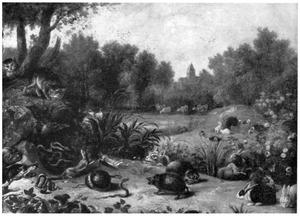 Landschap met verschillende dieren