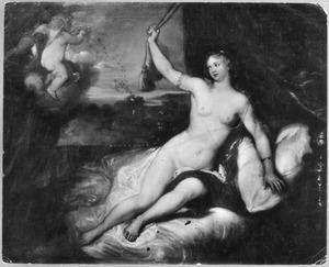 Danaë ontvangt Jupiter in de gadaante van een regen van goud (Ovidius, Metmorfosen 4:611)