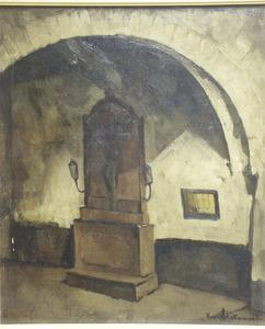 Kruisbeeld in een klooster