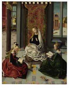 De Madonna met het kind en de HH. Maria Magdalena en Dorothea