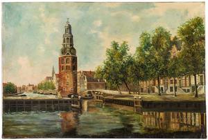 Oudeschans in Amsterdam met Montelbaanstoren