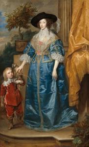 Dubbelportret van Henriëtta Maria de Bourbon (1609-1669), koningin van Engeland, en Sir Jeffrey Hudson (?-?)