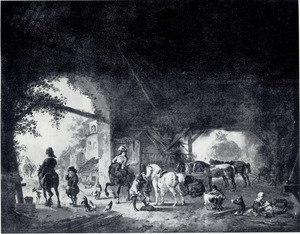 Stalinterieur met paarden