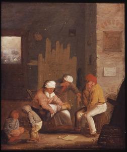 Boerenfamilie in een een interieur - De Reuk