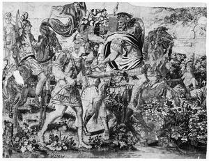 Julius Caesar steekt de Rubicon over