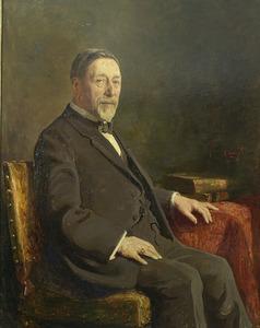 Portret van J. Nienhuys, commissaris van de Deli Maatschappij, Sumatra