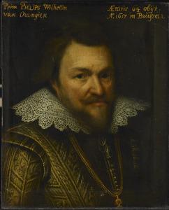 Portret van prins Philips Willem van Oranje- Nassau (1554-1618)