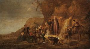 Mozes slaat water uit de rots (Exodus 17:6)