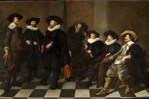 Groepsportret van de regenten van het Burgerweeshuis te Amsterdam, 1633
