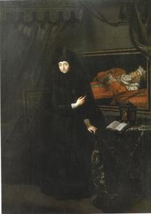 Portret van Anna Maria Luisa de'Medici in rouwkleed