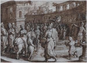Cincinnatus van achter de ploeg naar Rome teruggeroepen als dictator (Livius 3:26)