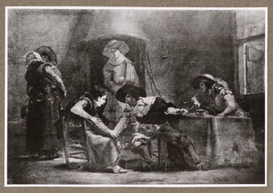 Rokende soldaten in een herherginterieur