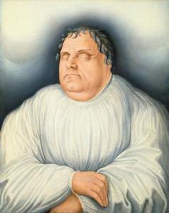Maarten Luther op zijn sterfbed