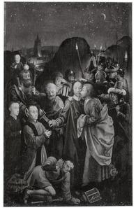 Het verraad van Judas met de H. Christoforus en twee stichters (Dreux Budé en zijn zoon Jean)