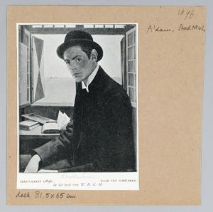 Zelfportret van Theodorus Henricus Antonius Adolf Molkenboer (1871-1920)