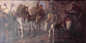 Hudibras' ongemak door de Skimmington