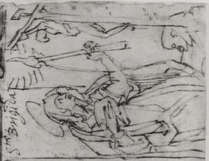 H. Brigitta van Zweden verwondt zich met brandend kaarsvet voor een kruisbeeld