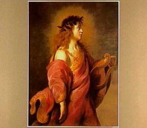 Portret van een onbekende man als Apollo