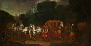 Koningin Anne van Engeland op weg naar het Parlement
