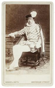 Portret van Jacob Jan Lodewijk van Hangest baron d'Yvoy (1857-1917) als Jacques de Romspergh