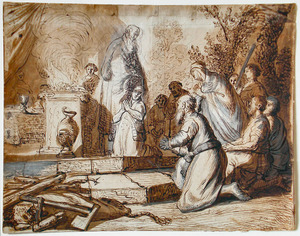 De zalving van David door Samuel (1 Samuel 16:13)