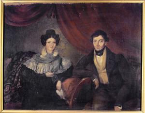 Dubbelportret van Johannes Petrus Scholten van Aschat (1801-1856) en Henriette Alexandrine Gerardina Hooft Graafland (1794-1850)