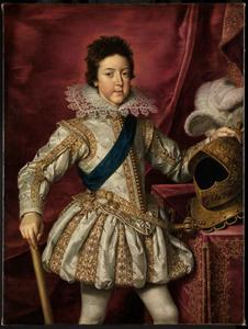 Portret van koning Lodewijk XIII van Frankrijk op 15-jarige leeftijd
