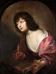 Portret van een jongeman als allegorie op de Dichtkunst