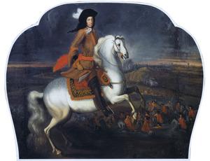 Ruiterportret van W`illem III van Oranje-Nassau (1650-1702)