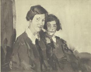 Portret van Annie en Ina Glerum
