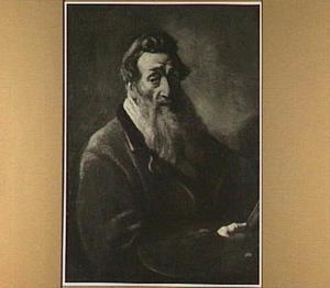 Zelfportret op ongeveer zeventigjarige leeftijd