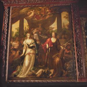 Allegorie op de dubbele jurisdictie van Maastricht