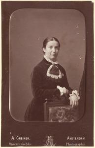 Portret van Wilhelmina Louise Maria Amalia Cox (1857-1924)
