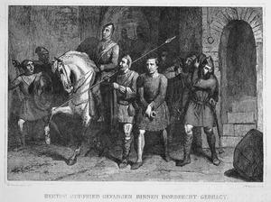Hertog Godfried gevangen en naar Dordrecht gebracht