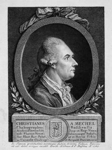 Portret van Christian von Mechel (1737-1817)