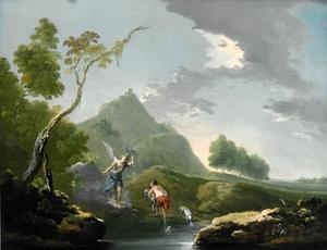 Landschap met Tobias en de engel